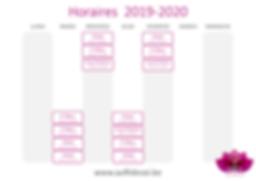 AFDS Grille Horaire 2019-2020 sur fond b