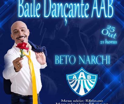 Baile Dançante dia 25 de Outubro