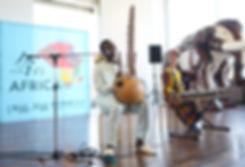 Boujou Cissoko with Kouma at IMA NO AFRICA 2019