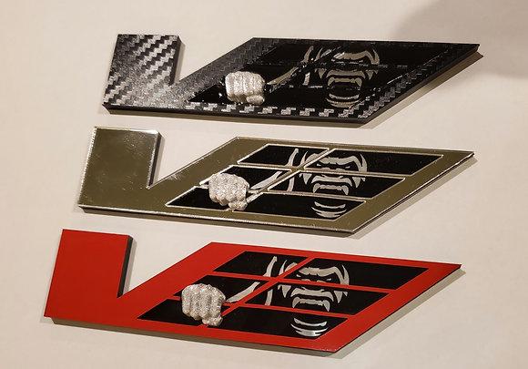 Kong V badges set