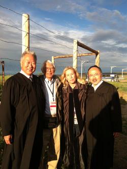 Judges Paul Kawasaki and Lance Ito, Takashi Hoshizaki at Heart Mountain