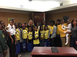 Hosting Honey Shine students and teaching about how the court works