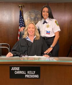 My wonderful bailiff, Ceneca Valdez