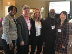 Judicial colleagues Beryl Anderson, Andrew Crecca, Ron Adrine and Jeannie Hong at NCJFCJ meeting