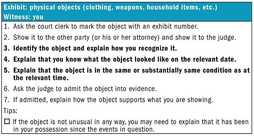 How to Introduce a Physical Object as Ev