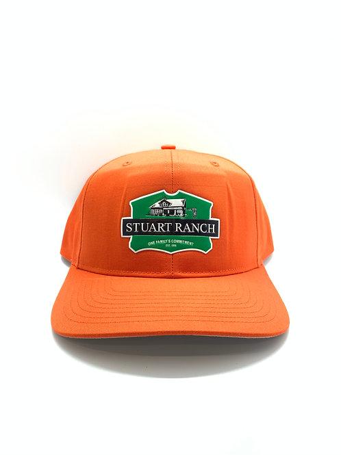Big House Patched Structured Snap Back Blaze Orange Hat