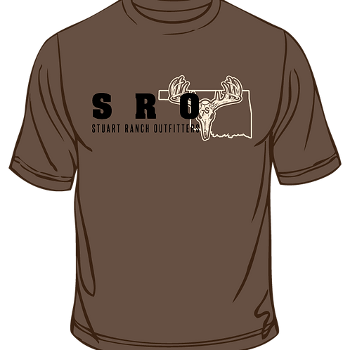 SRO Logo T Shirt Brown