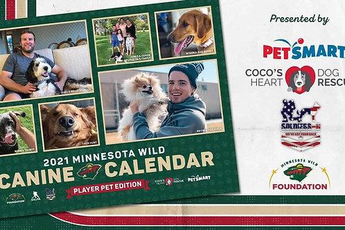 2021 Minnesota Wild Canine Calendar