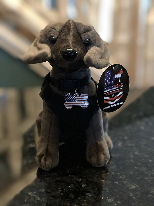 Soldier's 6 Plush Chocalate Lab K-9