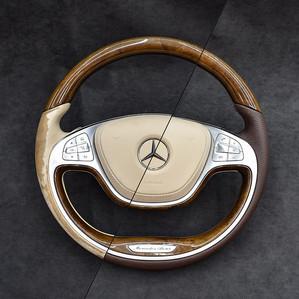 W222 Steering Wheel Leather Upholstery