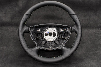 W211 E55 AMG Steering Wheel Leather Upholstery