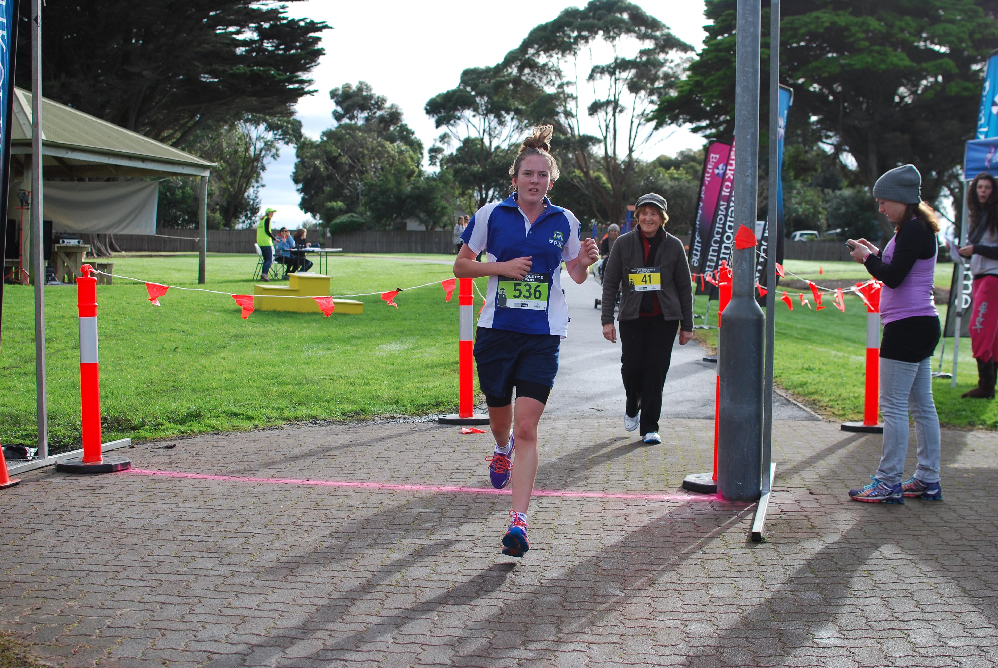 5km run female winner.JPG