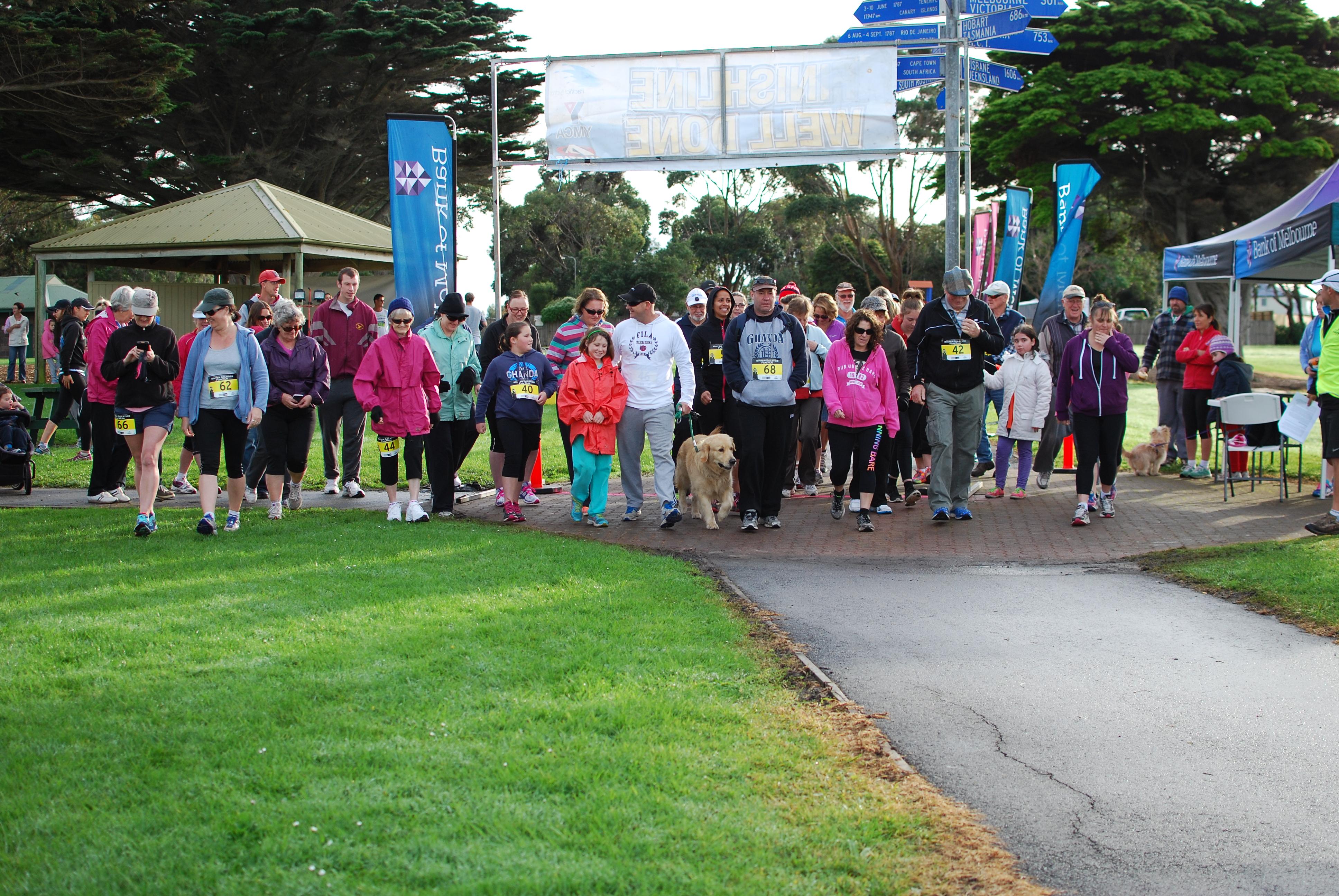 5 and 9km walk start.JPG