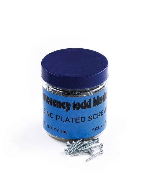 Zinc Plated Screws Pozi 4 x 1 Tub of 500