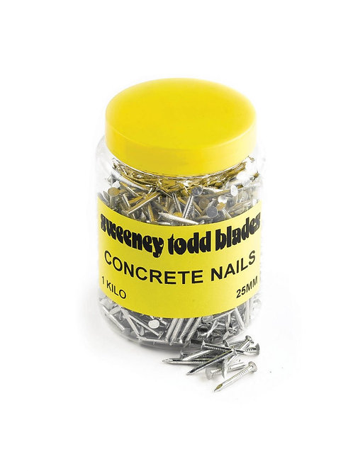 Concrete Nails Silver 1kg Tub