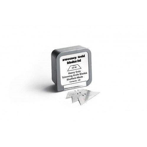 Heavy Duty Straight Blades - Plastic Silver Box