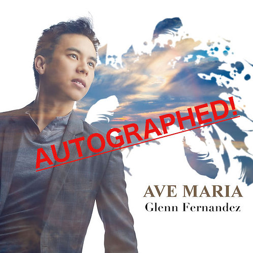 Autographed CD of the album AVE MARIA