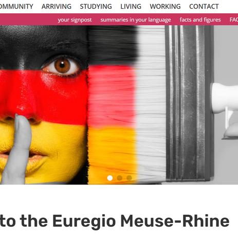 New website welcomes internationals in the Euregion Meuse-Rhine