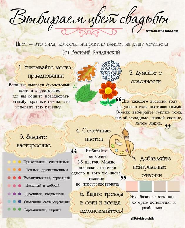 Выбираем цвет свадьбы