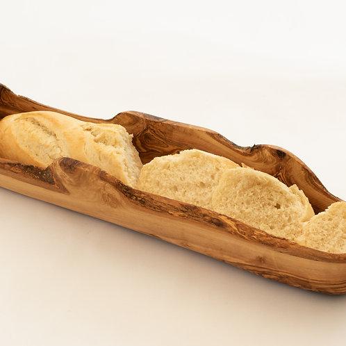 Large Olive Wood Baguette Basket