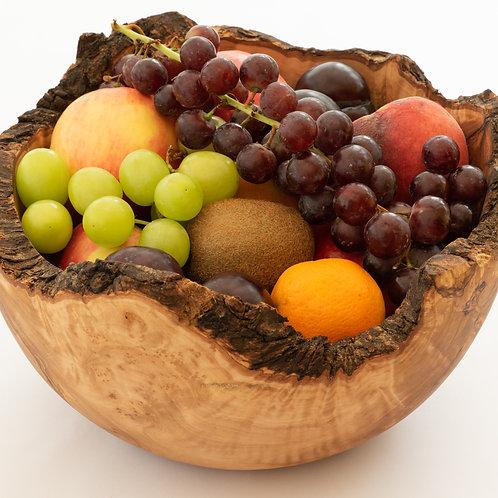 Olive Wood Rustic Salad Bowl