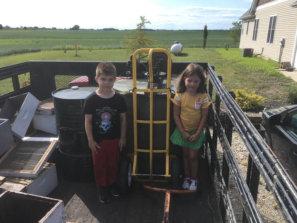 Bee truck. Honey Extractor. Dunham Bees. London, Ohio.