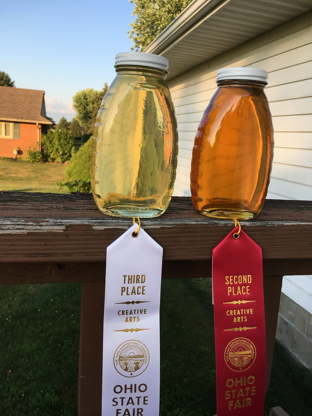 Honey. Ohio State Fair. Water white honey. Extra light amber honey. Dunham Bees.