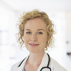 Female doctor smiling