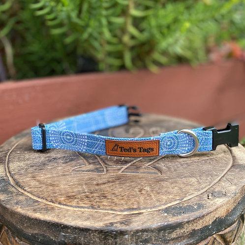 Blue/White Indigenous Design Dog Collar