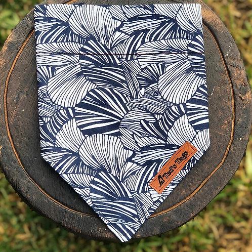 Blue/White Shell Design Bandana