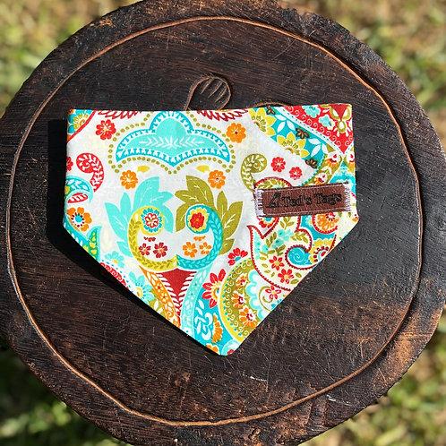 Multi-Coloured Paisley Pattern Bandana