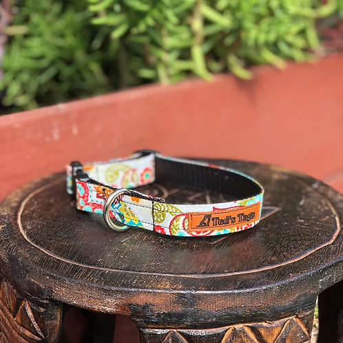 Colourful  Summer Patterned Dog Collar
