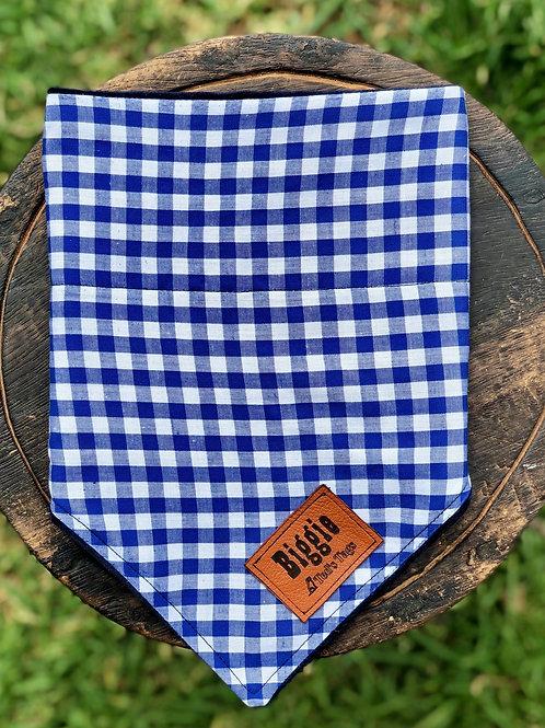 Blue/White Check  Design