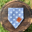 Thumbnail: Blue & White Polka Dot Design Bandana
