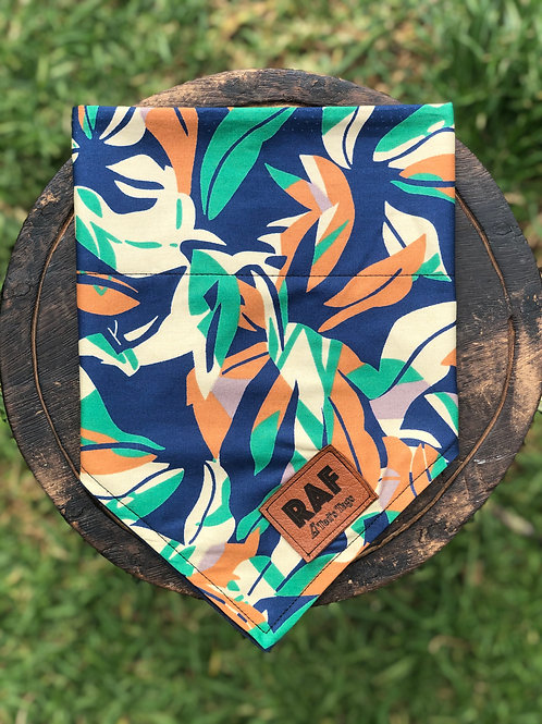 Blue/Green/Orange Camo Design Bandana