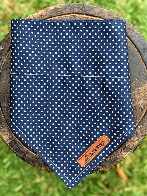 Navy Blue Polka Dot Design