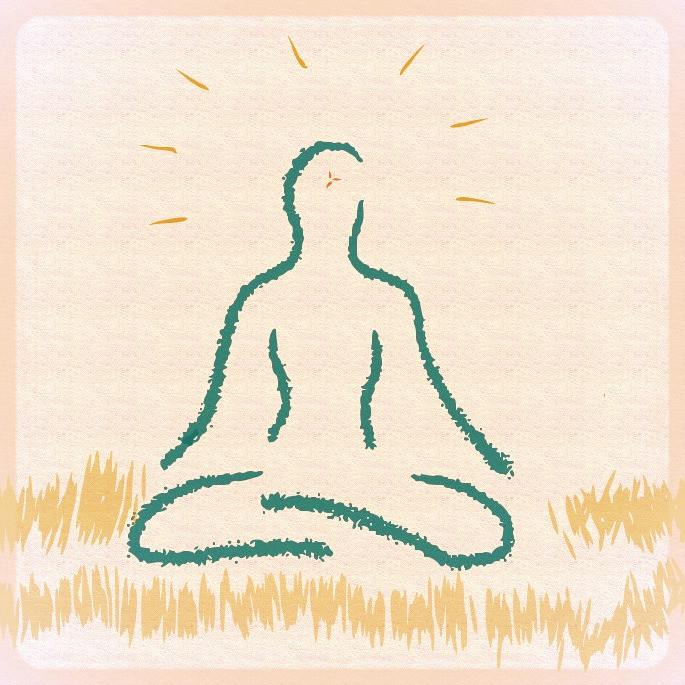 yogi in solitude