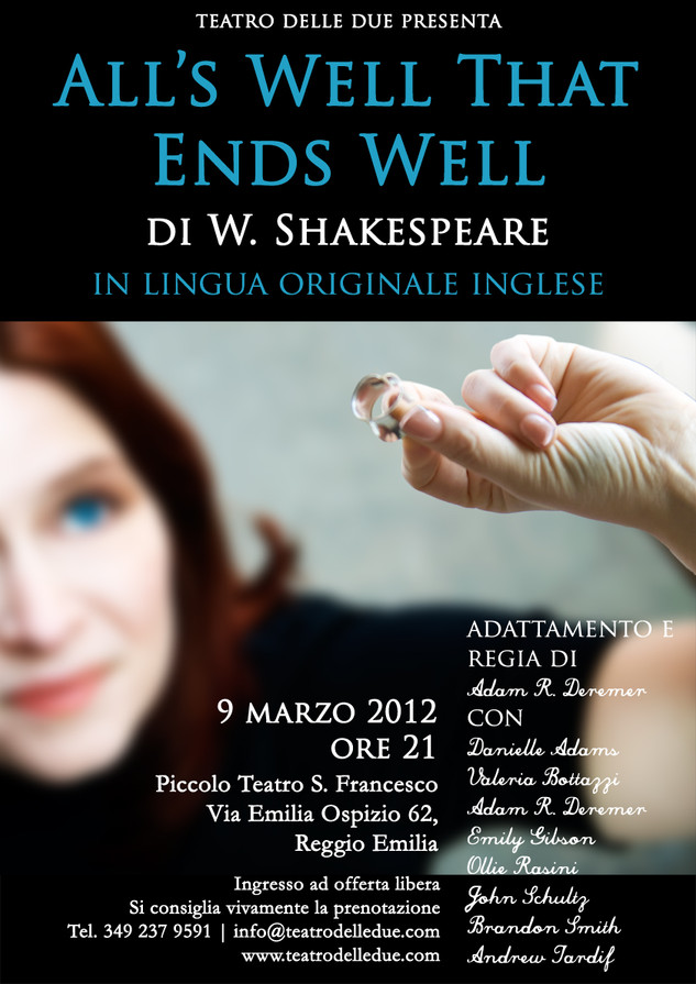 All's Well That Ends Well, Teatro delle Due, 2012