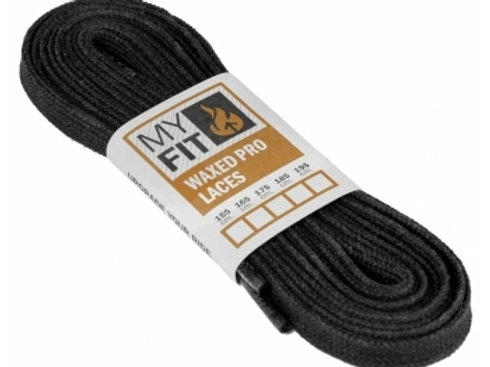 Myfit Waxed Laces Black
