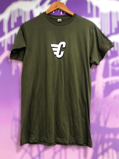 Carriers C Wing Tee (Army Green)