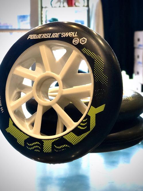 Powerslide Swell 125mm Wheels Black/Lime(set of 6)