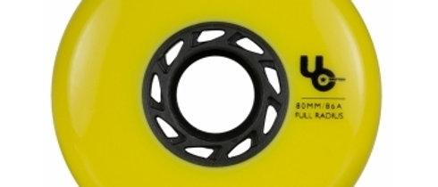Undercover Team 80mm/86a Full Radius Yellow