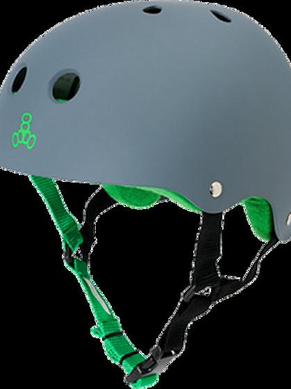 Triple 8 Sweatsaver Carbon/Green  Helmet