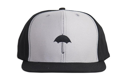 Them Black and Grey Umbrella Hat 2 tone