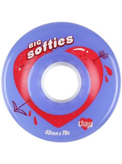Big Softies Clear Royal Blue 65mm 78a Wheels