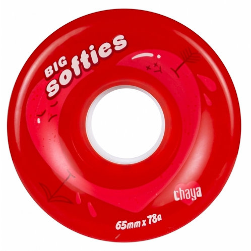 Big Softies Clear Red 65mm 78a