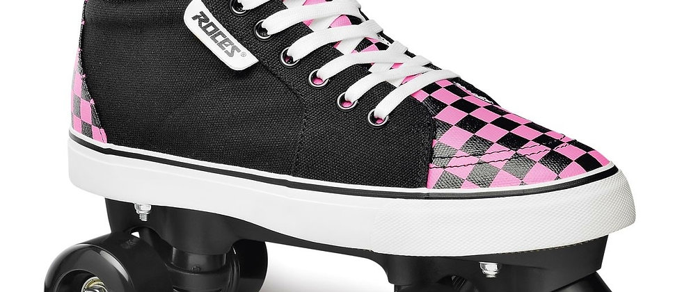 Roces Ollie Quad Skate Checker Pink/White