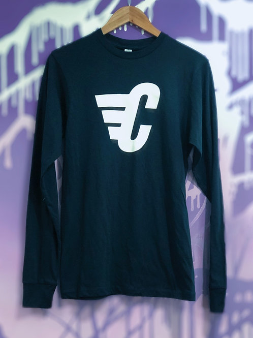 Carriers C Wing Long Sleeve (Navy Blue)