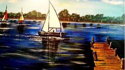 Sailboats and Pier