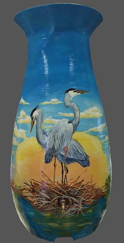 Herons Water Barrel